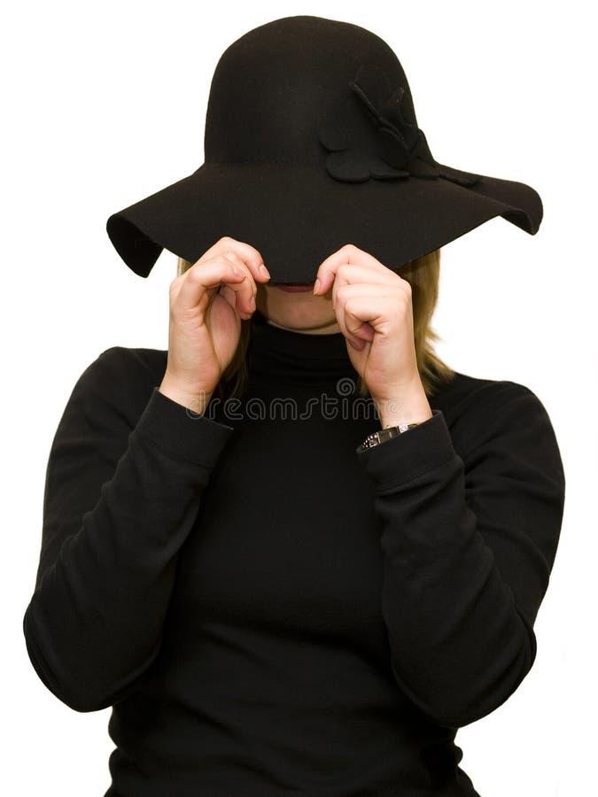 De vrouw van de geheimzinnigheid stock foto