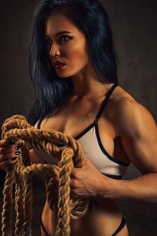 De vrouw van de geschiktheid stock foto's