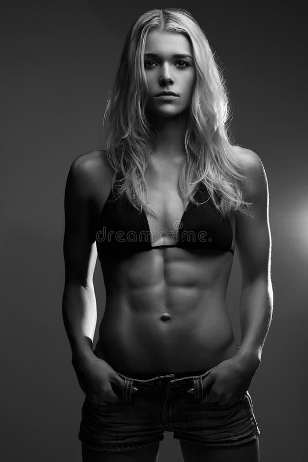 De vrouw van de geschiktheid het dieetlevensstijl van het gewichtsverlies royalty-vrije stock fotografie