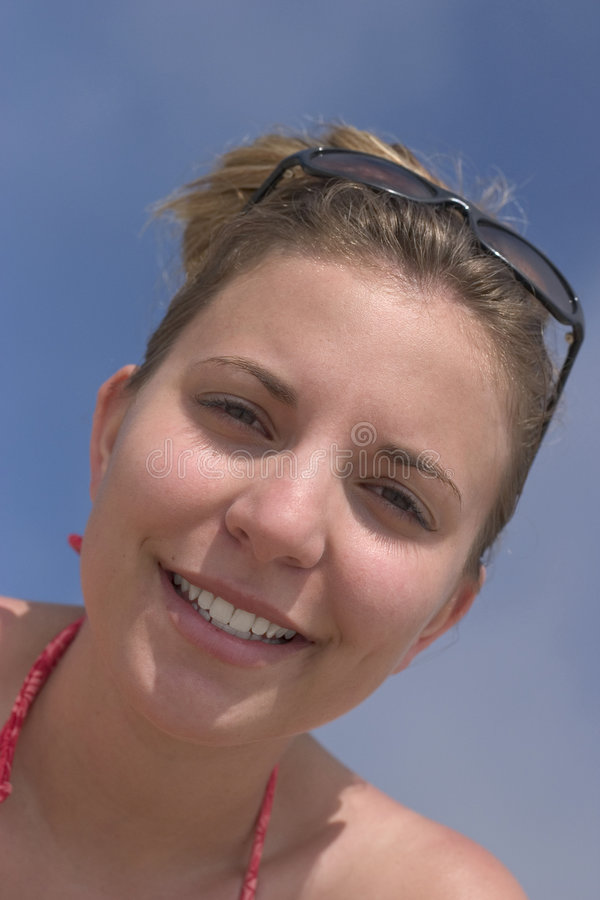 De Vrouw van de glimlach stock afbeelding