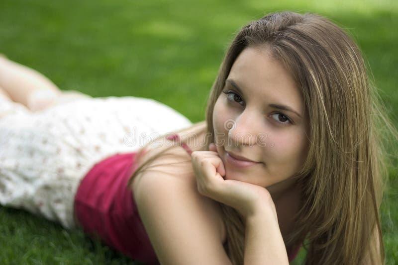 De Vrouw van de glimlach royalty-vrije stock afbeelding