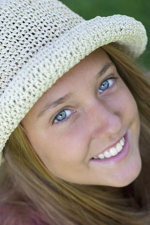 De Vrouw van de glimlach stock afbeeldingen
