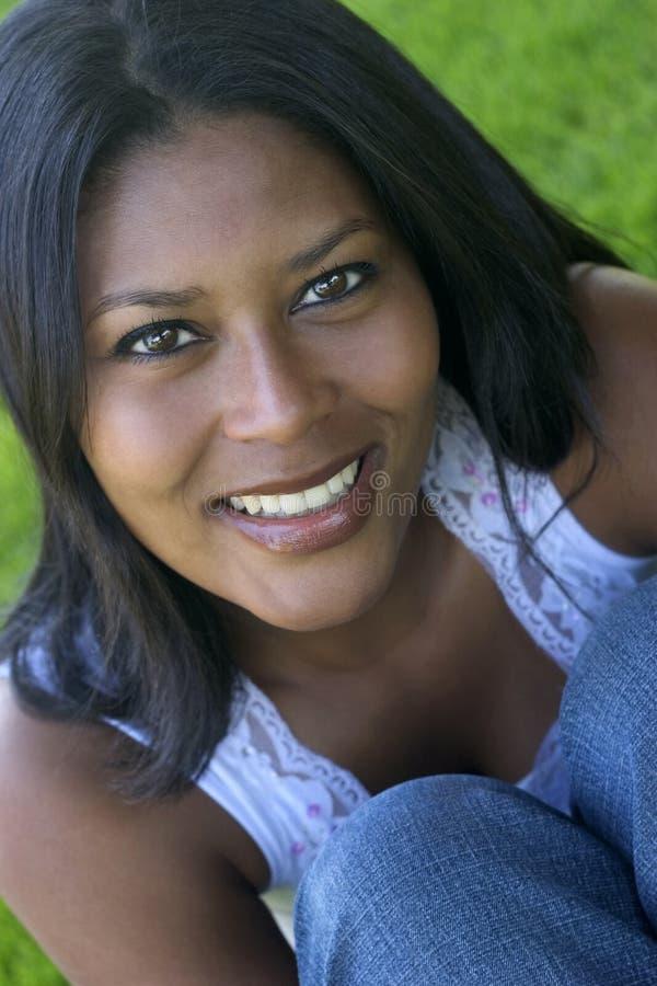 De Vrouw van de glimlach stock foto's
