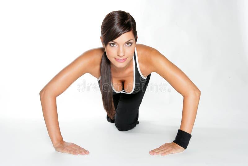 De vrouw van de gymnastiek royalty-vrije stock afbeelding