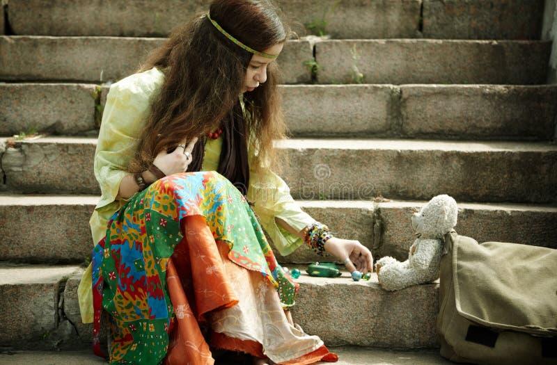 De vrouw van de hippie royalty-vrije stock afbeeldingen