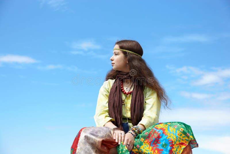 De vrouw van de hippie royalty-vrije stock foto