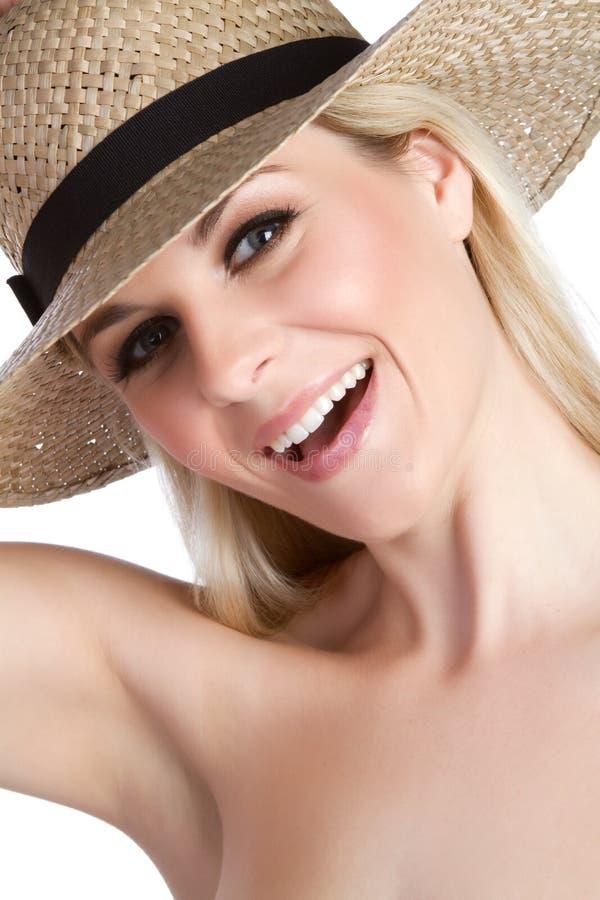 De Vrouw van de hoed royalty-vrije stock foto