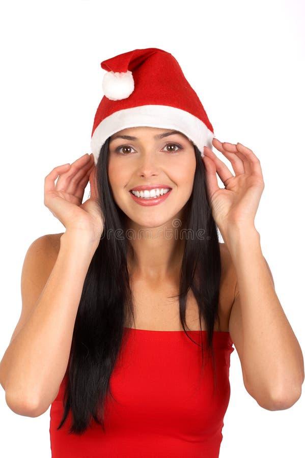 De vrouw van de kerstman stock foto