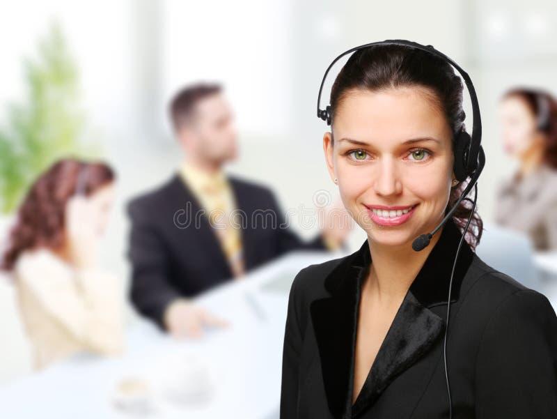 De vrouw van de klantenondersteuningsexploitant royalty-vrije stock afbeeldingen