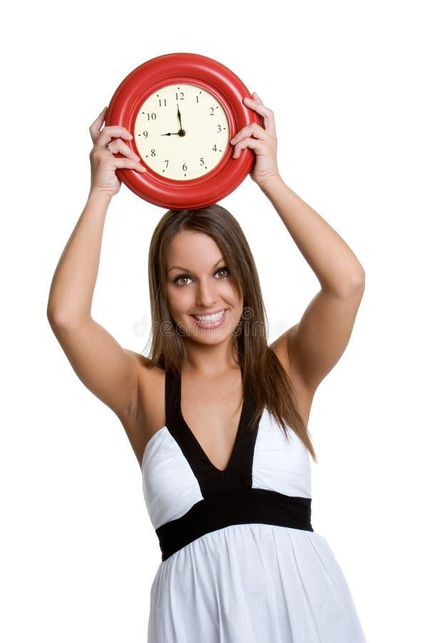 De Vrouw van de klok royalty-vrije stock afbeelding