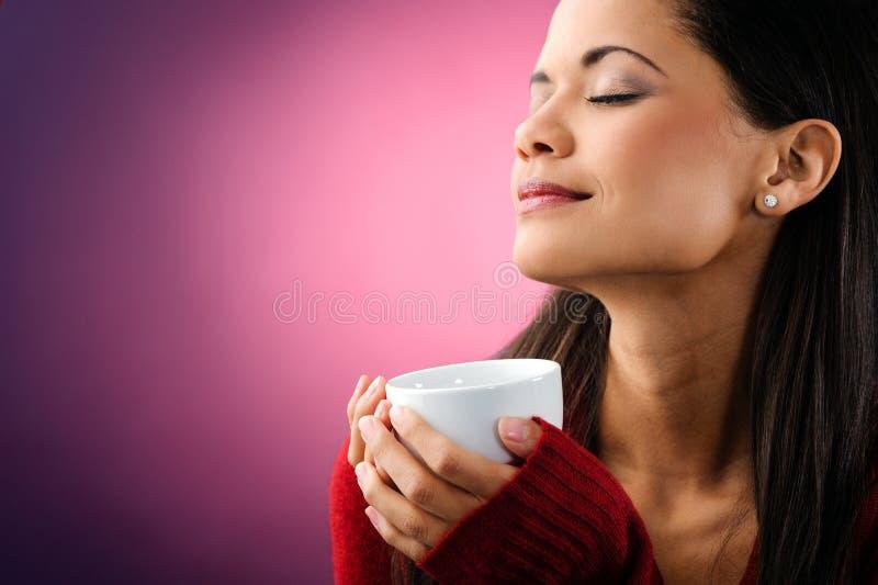 De vrouw van de koffie royalty-vrije stock foto