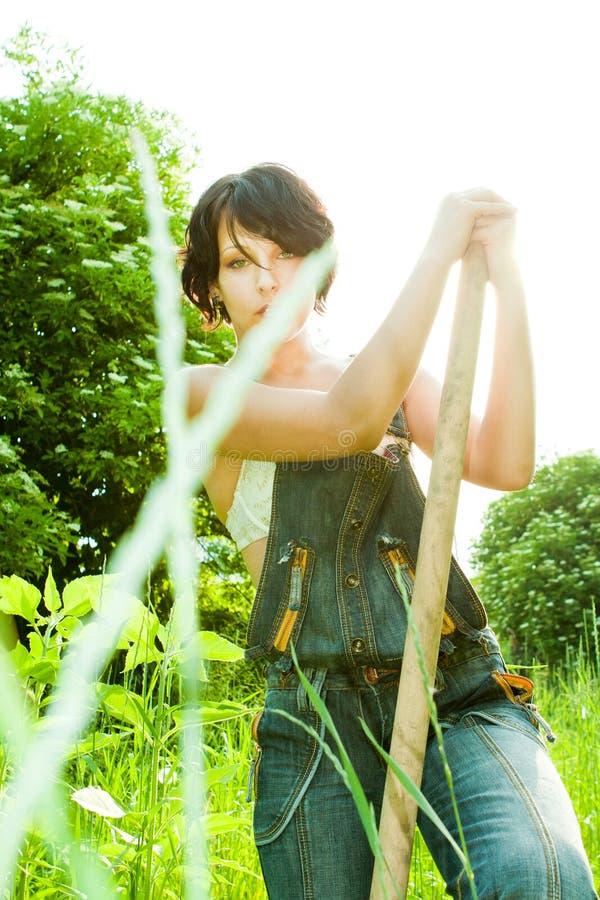 De vrouw van de landbouwer stock foto's