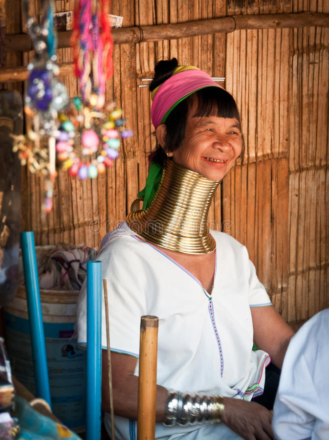 De vrouw van de Padaungstam royalty-vrije stock foto's