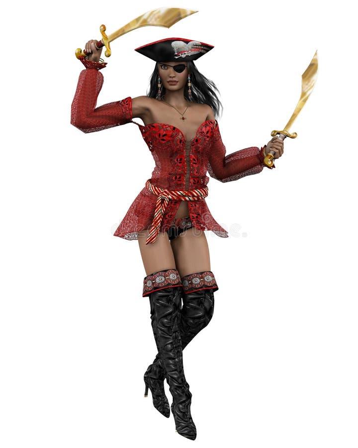 De Vrouw van de piraat - 1 royalty-vrije illustratie