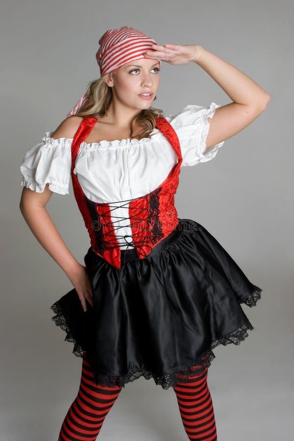 De Vrouw van de piraat stock foto