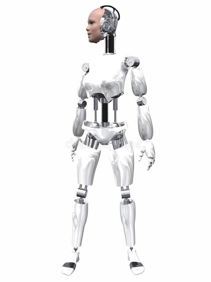 De Vrouw van de robot royalty-vrije illustratie