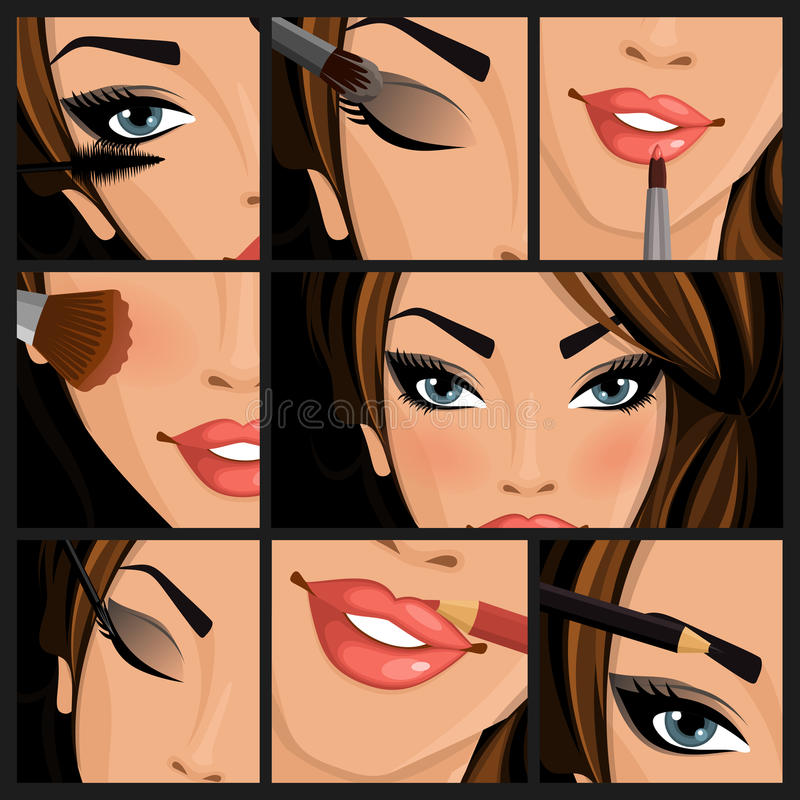 De vrouw van de samenstellingsschoonheid vector illustratie
