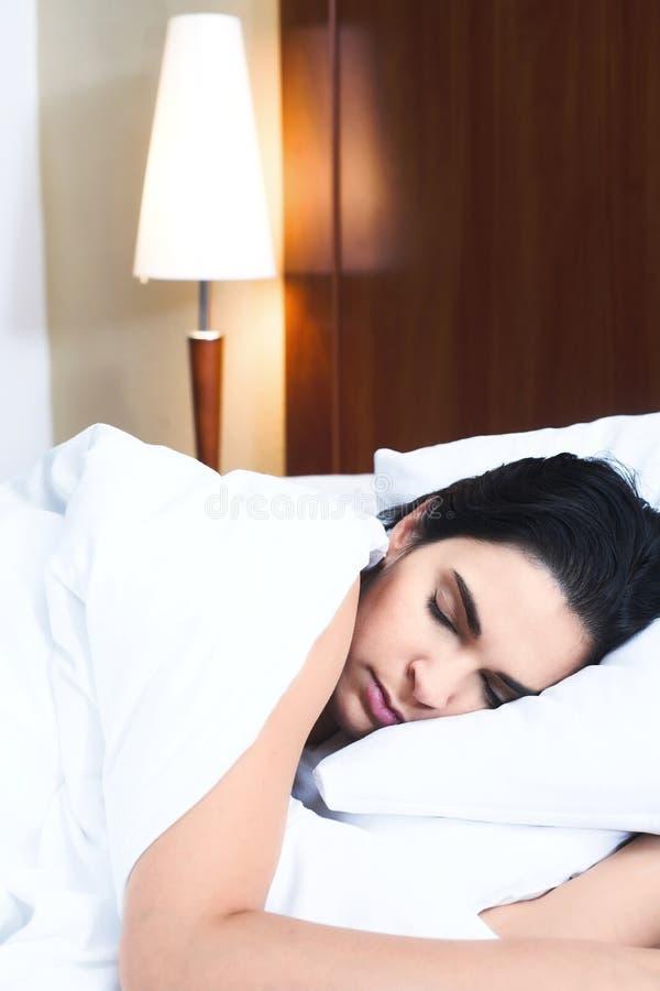 De vrouw van de slaap stock fotografie
