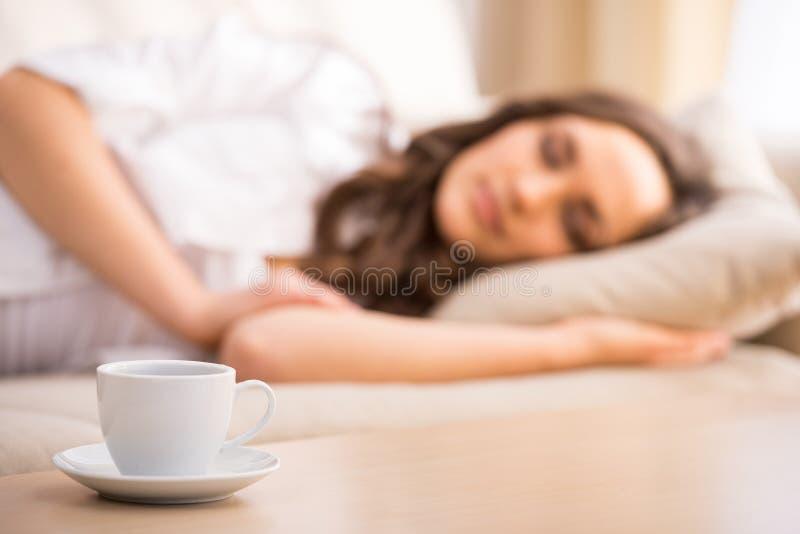 De vrouw van de slaap royalty-vrije stock fotografie