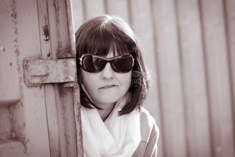 De vrouw van de spion royalty-vrije stock foto's