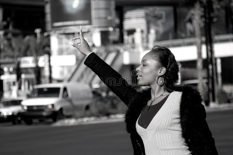 De Vrouw van de stad stock afbeelding