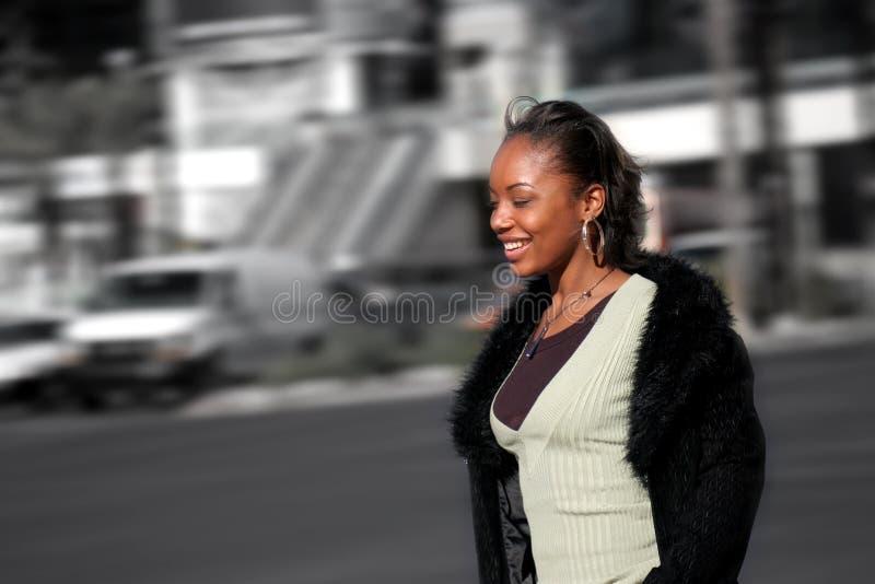 De Vrouw van de stad stock fotografie
