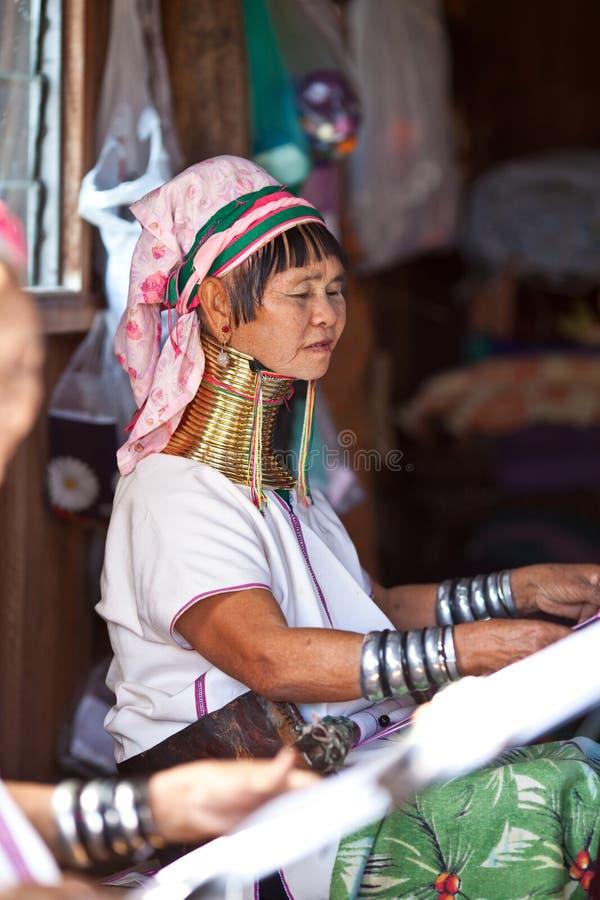 De vrouw van de Stam padaung-Karen stock fotografie