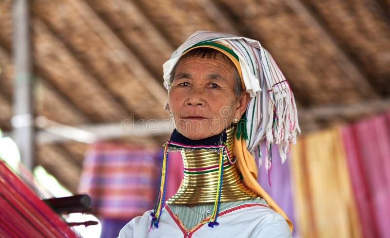 De vrouw van de Stam van Padaung royalty-vrije stock foto's