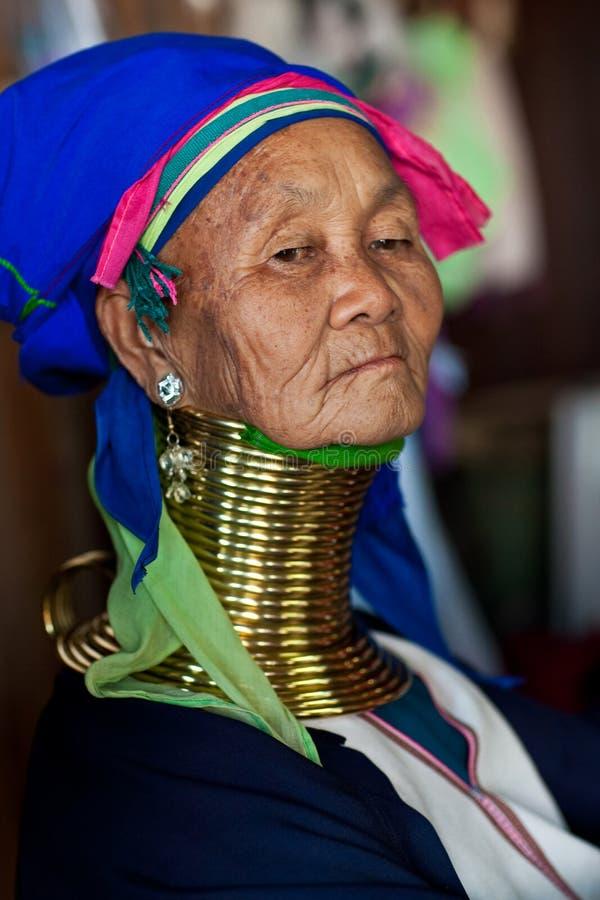 De vrouw van de Stam van Padaung royalty-vrije stock fotografie