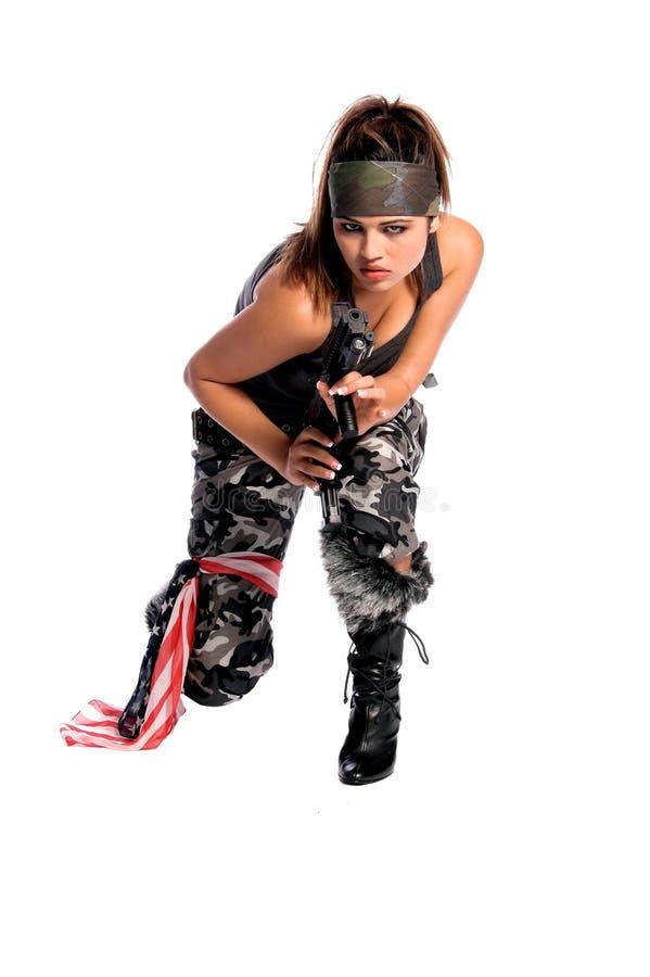 De Vrouw van de strijder stock fotografie