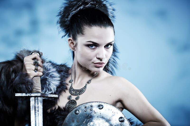 De vrouw van de strijder. royalty-vrije stock afbeelding