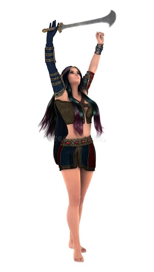 De vrouw van de strijder stock illustratie