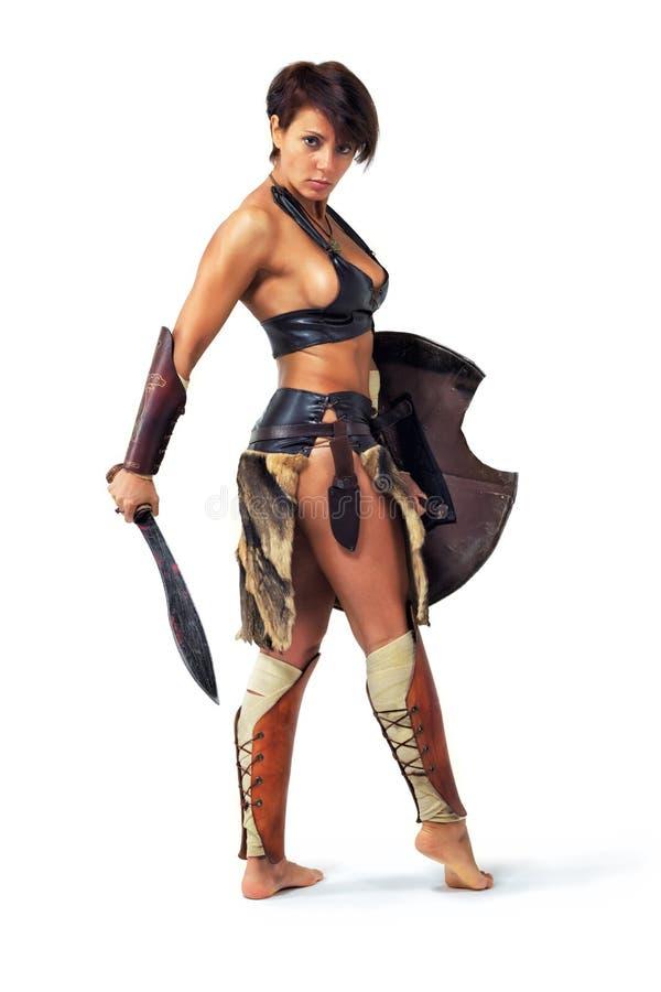 De vrouw van de strijder stock foto's