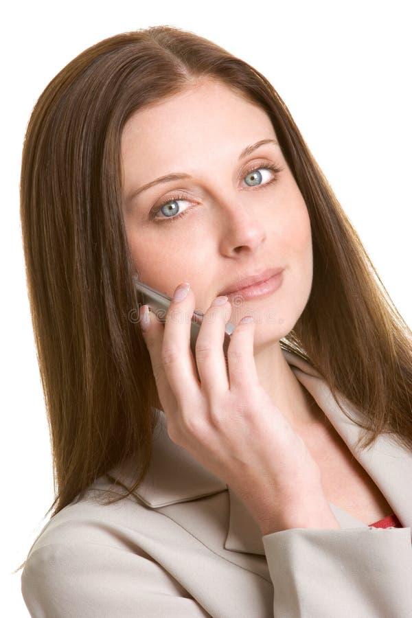 De Vrouw van de telefoon royalty-vrije stock foto