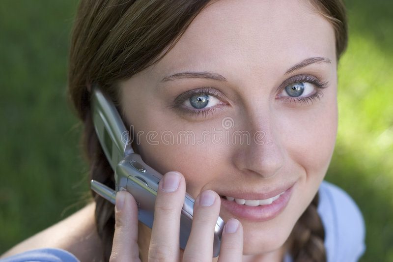 De Vrouw van de telefoon stock fotografie