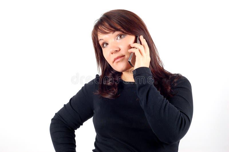 De vrouw van de telefoon #9 stock afbeeldingen
