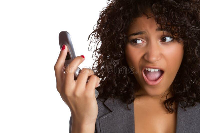 De Vrouw van de Telefoon van de cel stock foto