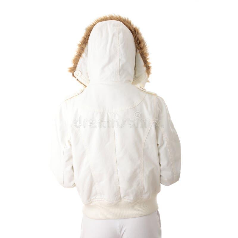 De vrouw van de tiener in de winterjasje stock foto's