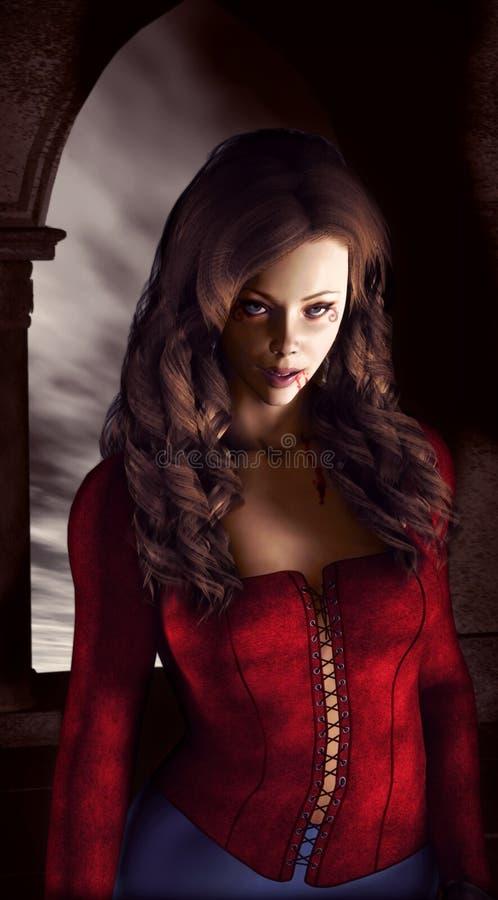 De vrouw van de vampier royalty-vrije illustratie