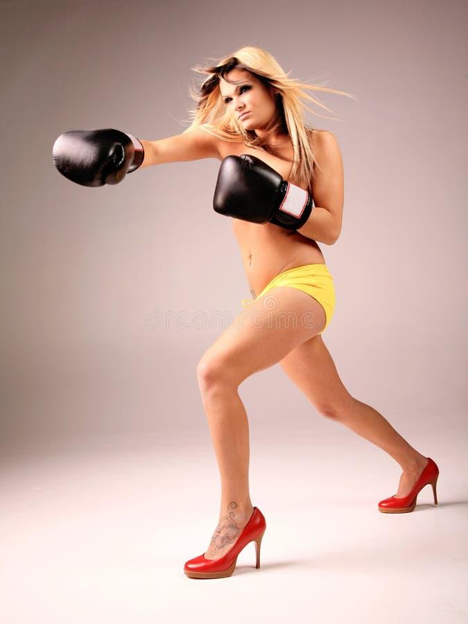 De Vrouw van de vechter stock afbeelding
