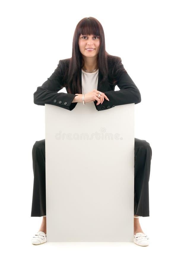 De vrouw van de verkoop stock fotografie