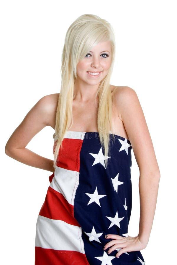 De Vrouw van de vlag stock foto