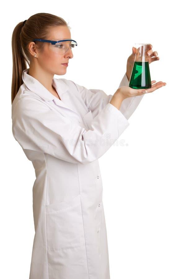 De vrouw van de wetenschapper stock foto's