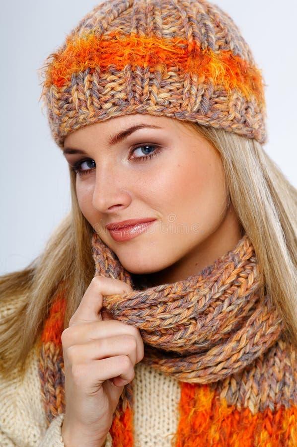 De vrouw van de winter royalty-vrije stock foto's