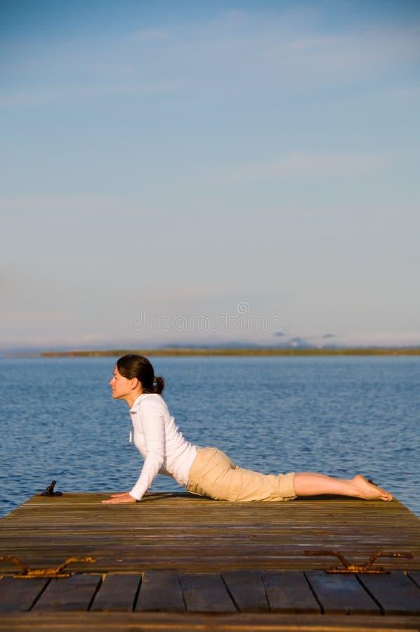 Yogavrouw Stock Foto's