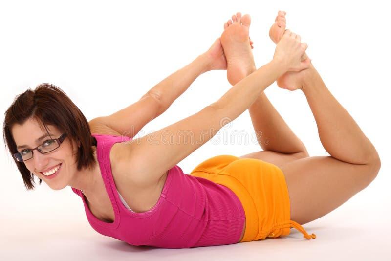 De vrouw van de yoga stock foto