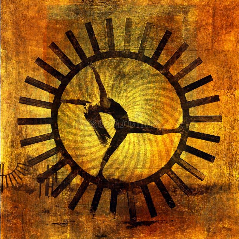 De Vrouw van de zon stock illustratie