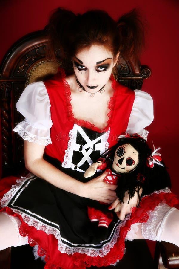 De Vrouw van Doll van Goth royalty-vrije stock foto