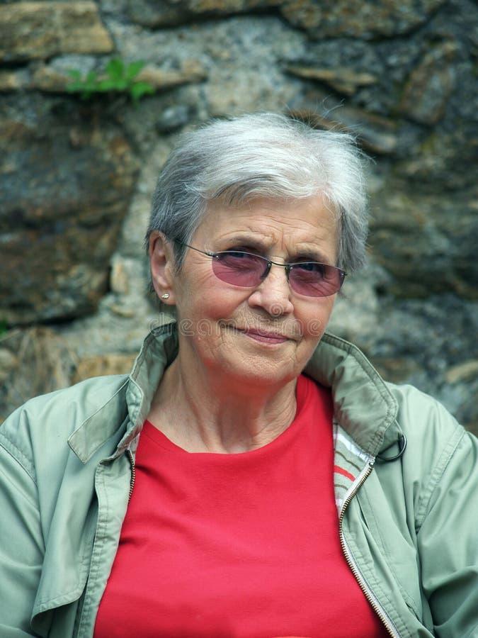 De vrouw van Eldelry royalty-vrije stock fotografie