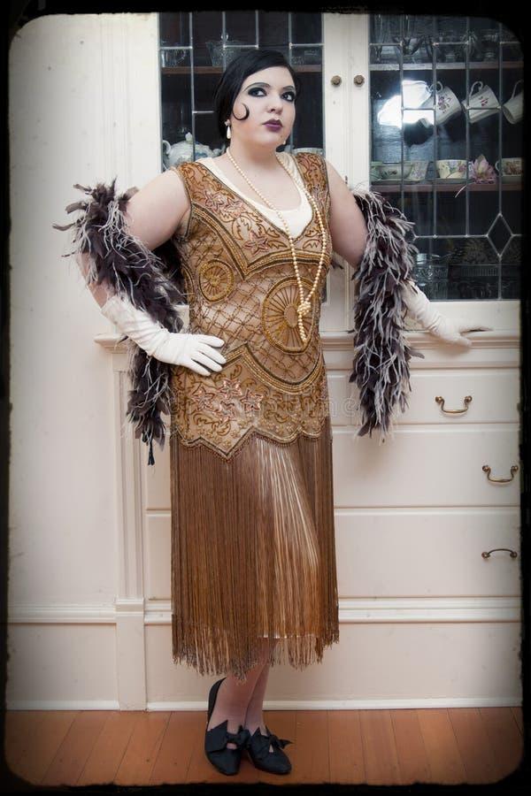 De Vrouw van het art deco royalty-vrije stock afbeelding